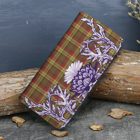 Image of MacMillan Old Weathered Tartan Wallet Women's Leather Thistle A91