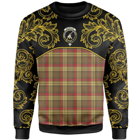 Image of MacMillan Old Weathered Tartan Clan Crest Sweatshirt - Empire I - HJT4 - Scottish Clans Store - Tartan Clans Clothing - Scottish Tartan Shopping - Clans Crest - Shopping In scottishclans - Sweatshirt For You