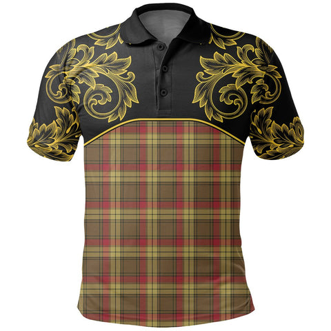Image of MacMillan Old Weathered Tartan Clan Crest Polo Shirt - Empire I - HJT4 - Scottish Clans Store - Tartan Clans Clothing - Scottish Tartan Shopping - Clans Crest - Shopping In scottishclans - Polo Shirt For You