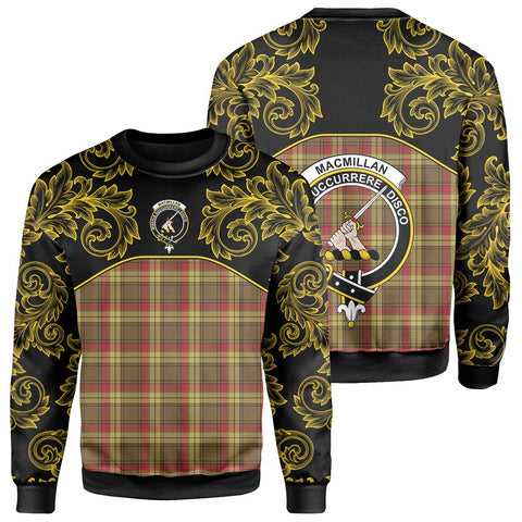 MacMillan Old Weathered Tartan Clan Crest Sweatshirt - Empire I - HJT4
