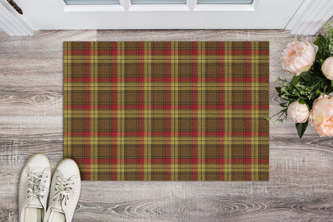 MacMillan Old Weathered Tartan Carpets Front Door A91