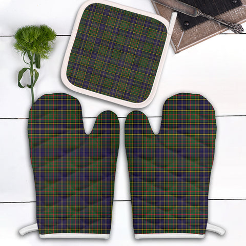 MacMillan Hunting Modern Clan Tartan Scotland Oven Mitt And Pot-Holder (Set Of Two)
