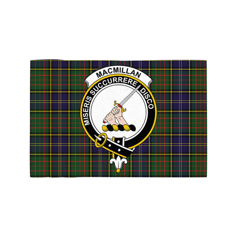 Image of MacMillan Hunting Modern Clan Crest Tartan Motorcycle Flag