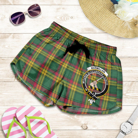 Image of MacMillan Old Ancient crest Tartan Shorts For Women