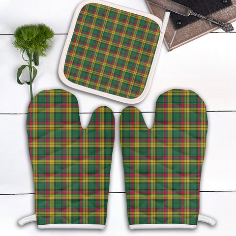 MacMillan Old Ancient Clan Tartan Scotland Oven Mitt And Pot-Holder (Set Of Two)