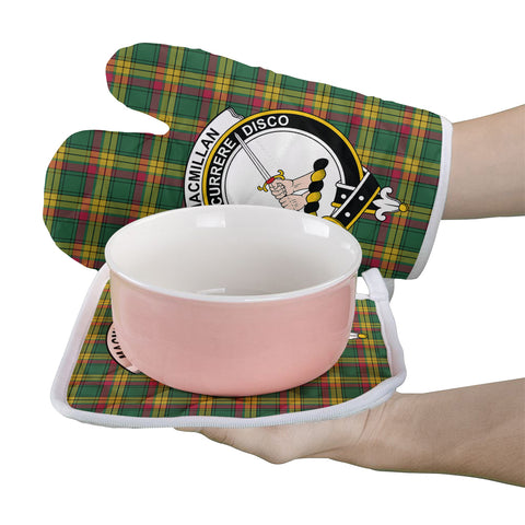 MacMillan Old Ancient Clan Crest Tartan Scotland Oven Mitt And Pot-Holder (Set Of Two)