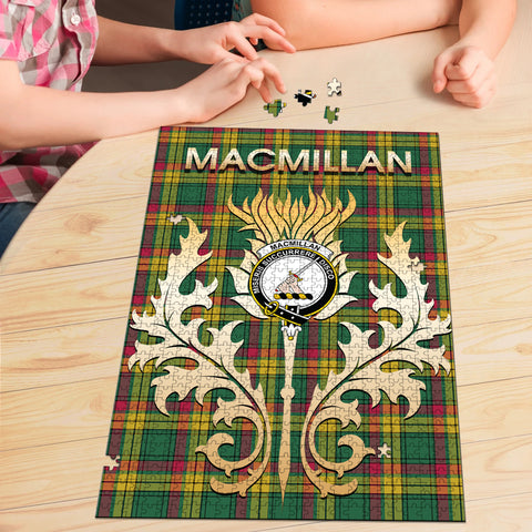 MacMillan Old Ancient Clan Name Crest Tartan Thistle Scotland Jigsaw Puzzle