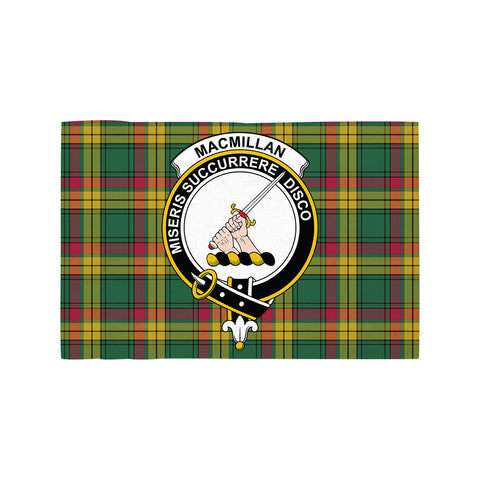 Image of MacMillan Old Ancient Clan Crest Tartan Motorcycle Flag
