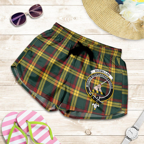 MacMillan Old Modern crest Tartan Shorts For Women