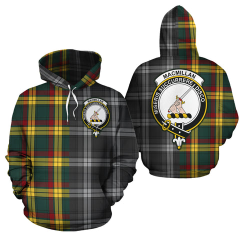 MacMillan Old Modern Clan Half Of Me New Version Crest Tartan Hoodie