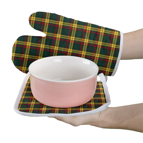 MacMillan Old Modern Clan Tartan Scotland Oven Mitt And Pot-Holder (Set Of Two)
