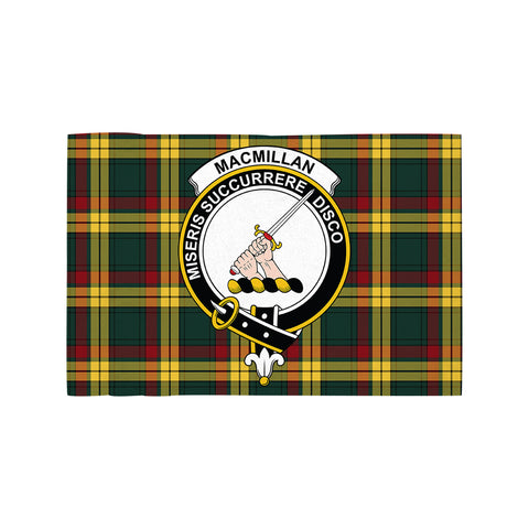 Image of MacMillan Old Modern Clan Crest Tartan Motorcycle Flag