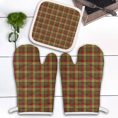 MacMillan Old Weathered Clan Tartan Scotland Oven Mitt And Pot-Holder (Set Of Two)