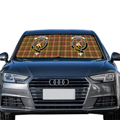 Image of MacMillan Old Weathered Clan Crest Tartan Scotland Car Sun Shade 2pcs