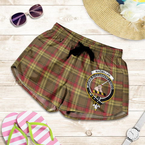 Image of MacMillan Old Weathered crest Tartan Shorts For Women