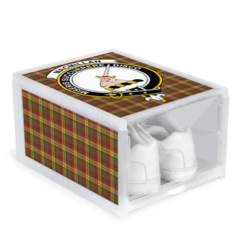 Image of MacMillan Old Weathered Clan Crest Tartan Scottish Shoe Organizers