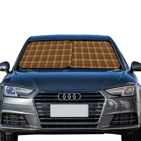 Image of MacMillan Old Weathered Clan Tartan Scotland Car Sun Shade 2pcs