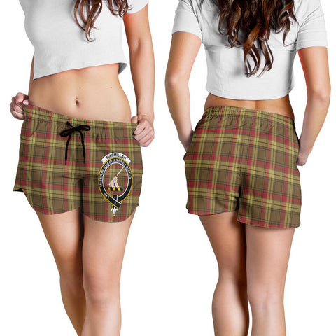 Image of MacMillan Old Weathered Crest Tartan Shorts For Women K7