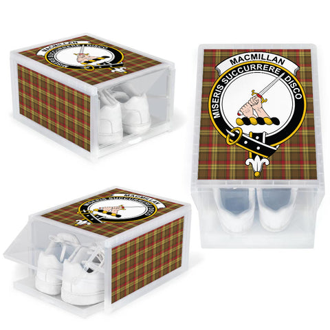 MacMillan Old Weathered Clan Crest Tartan Scottish Shoe Organizers K9