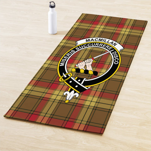 MacMillan Old Weathered Clan Crest Tartan Yoga mats