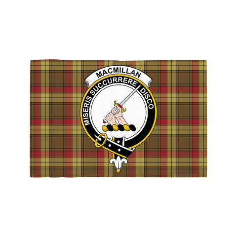 Image of MacMillan Old Weathered Clan Crest Tartan Motorcycle Flag
