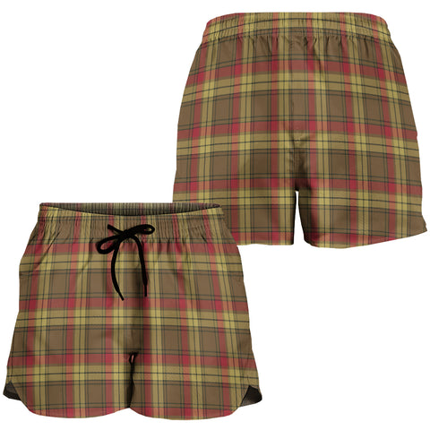 MacMillan Old Weathered Crest Tartan Shorts For Women K7