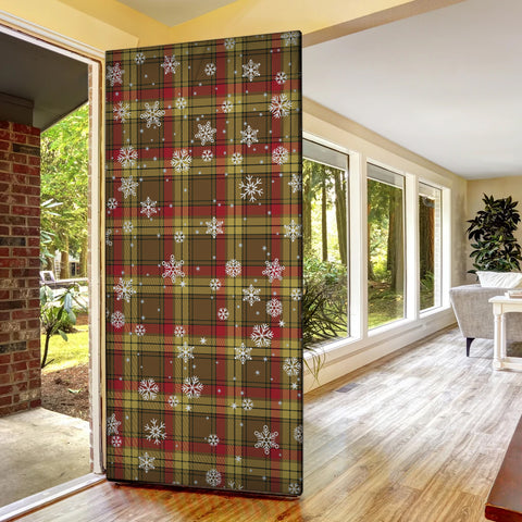 MacMillan Old Weathered Christmas Tartan Door Sock Cover