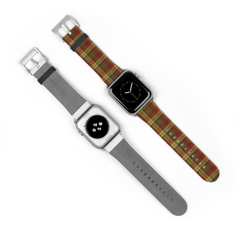 Image of MacMillan Old Weathered Scottish Clan Tartan Watch Band Apple Watch