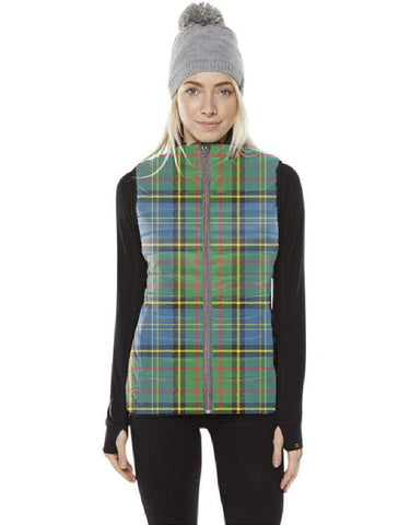 Image of MacMillan Hunting Ancient Tartan Puffer Vest for Men and Women K7