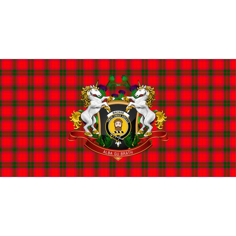 MacNab Modern Crest Tartan Tablecloth Unicorn Thistle A30