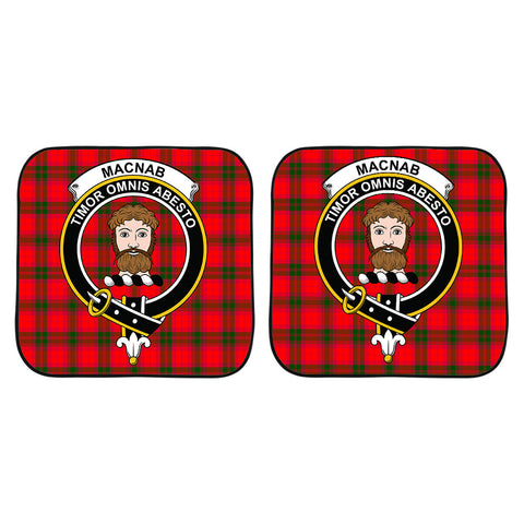 Image of MacNab Modern Clan Crest Tartan Scotland Car Sun Shade 2pcs K7