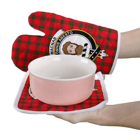 MacNab Modern Clan Crest Tartan Scotland Oven Mitt And Pot-Holder (Set Of Two)