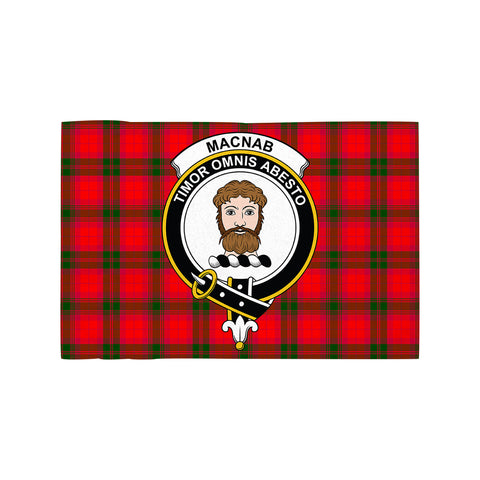 Image of MacNab Modern Clan Crest Tartan Motorcycle Flag