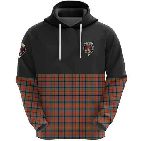 MacNaughton Ancient Clan Hoodie Half Of Tartan