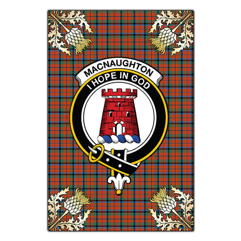 Garden Flag MacNaughton Ancient Clan Crest Gold Thistle New