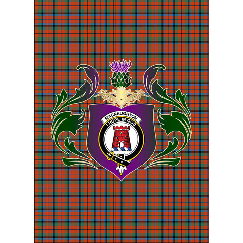 MacNaughton Ancient Clan Garden Flag Royal Thistle Of Clan Badge