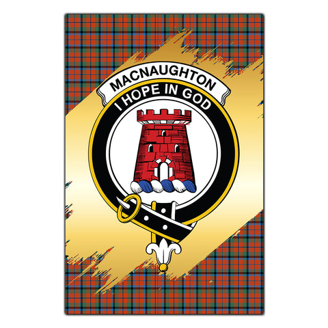 Garden Flag MacNaughton Ancient Clan Gold Crest Gold Thistle