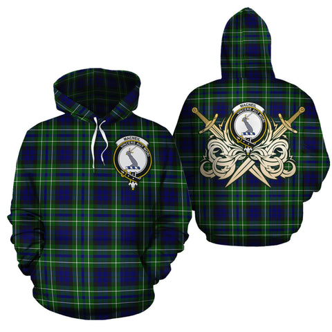 MacNeil of Colonsay Modern Clan Crest Tartan Scottish Gold Thistle Hoodie