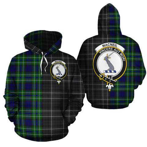 MacNeil of Colonsay Modern Clan Half Of Me New Version Crest Tartan Hoodie