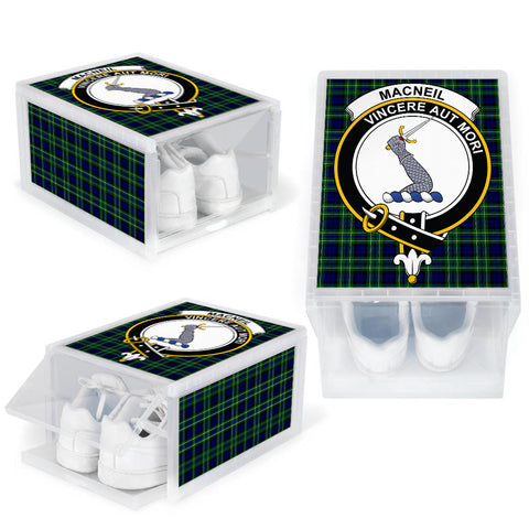 MacNeil of Colonsay Modern Clan Crest Tartan Scottish Shoe Organizers K9