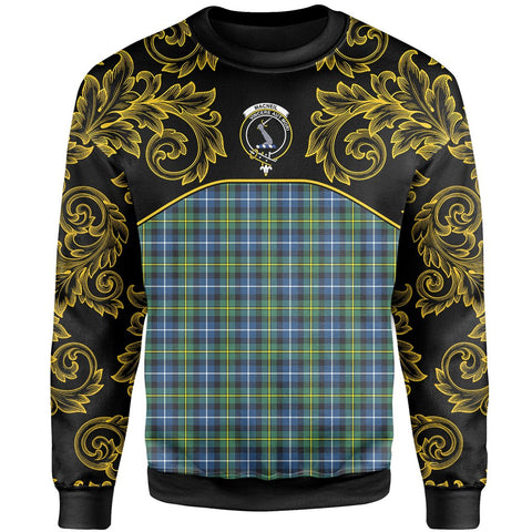 MacNeill of Barra Ancient Tartan Clan Crest Sweatshirt - Empire I - HJT4 - Scottish Clans Store - Tartan Clans Clothing - Scottish Tartan Shopping - Clans Crest - Shopping In scottishclans - Sweatshirt For You