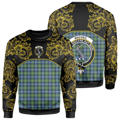 MacNeill of Barra Ancient Tartan Clan Crest Sweatshirt - Empire I - HJT4