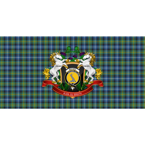 MacNeill of Barra Ancient Crest Tartan Tablecloth Unicorn Thistle A30