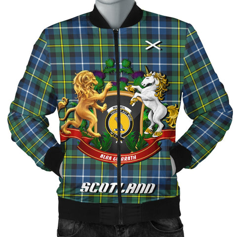 MacNeill of Barra Ancient | Tartan Bomber Jacket | Scottish Jacket | Scotland Clothing