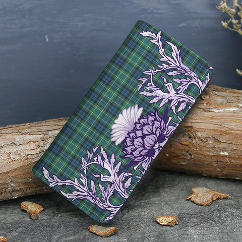 MacNeill of Colonsay Ancient Tartan Wallet Women's Leather Thistle A91