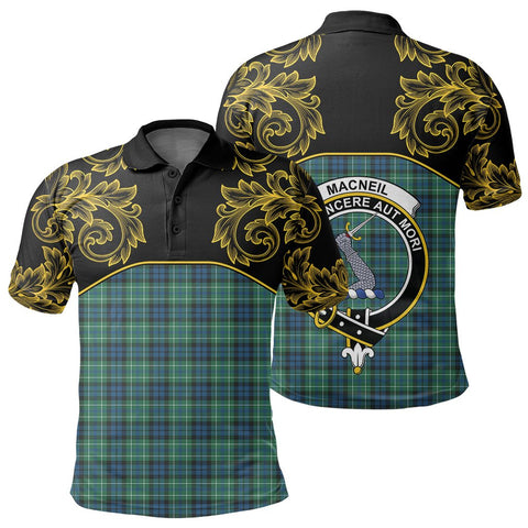 MacNeill of Colonsay Ancient Tartan Clan Crest Polo Shirt - Empire I - HJT4