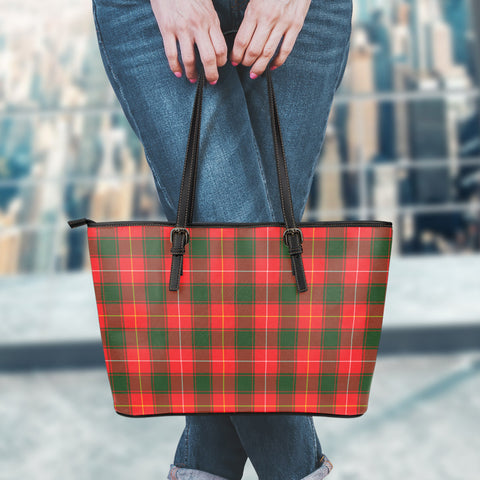 Image of MacPhee Modern Tartan Leather Tote Bag (Large) | Over 500 Tartans | Special Custom Design