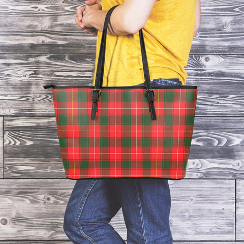 MacPhee Modern Tartan Leather Tote Bag (Large) | Over 500 Tartans | Special Custom Design