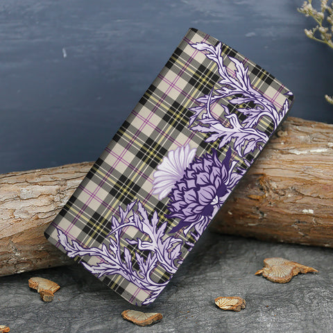 MacPherson Dress Ancient Tartan Wallet Women's Leather Thistle A91