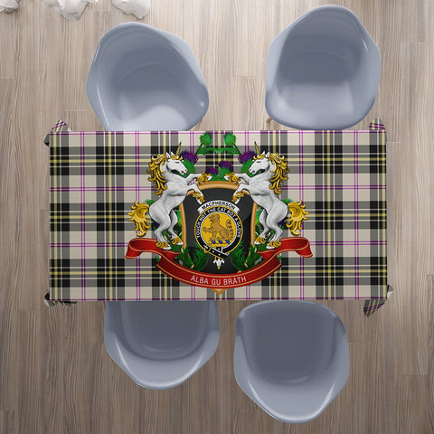 Image of MacPherson Dress Ancient Crest Tartan Tablecloth Unicorn Thistle | Home Decor